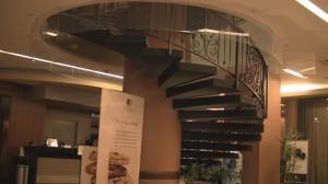 Doubletree Bethesda - Lobby circular staircase.