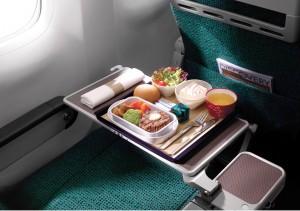 Cathay Premium Economy Meal Service.