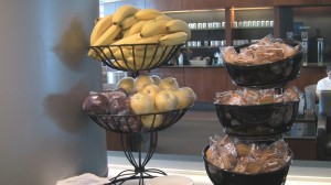 Snacks at United Club Denver West