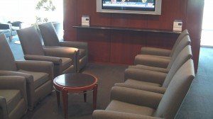 Odd seating at United Club Denver West