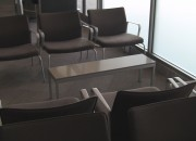 Seating at Porter Airlines Lounge Newark