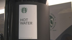 Starbucks Hot Water at YTZ