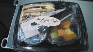 Food aboard a US Airways A321