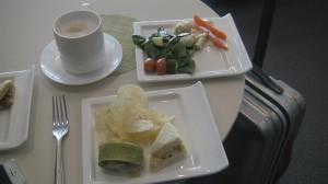 Lufthansa JFK Lounge Food.