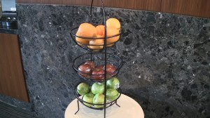Complimentary fruit at LaGuardia Admirals Club