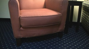 Worn out chair - Springhill Suites Baltimore/Inner Harbor