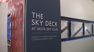 Sign leading to Sky Deck