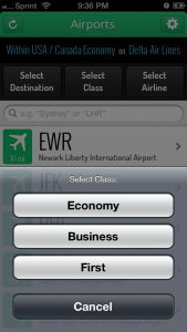 LoungeBuddy considers which class you're flying to help determine what lounges you'll have access to on flight day.
