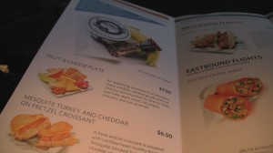 "Delta airlines food options ""EATS""."
