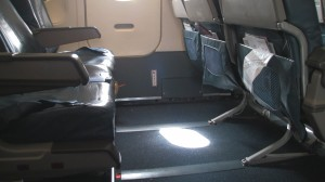 Exit Seating aboard a Delta A320.