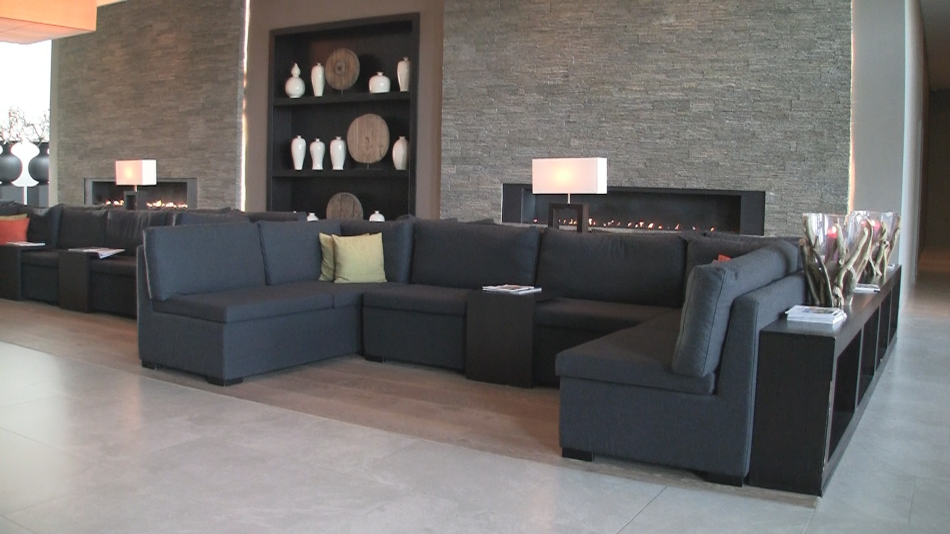 Lobby sofas at Airporthotel Dusseldorf.