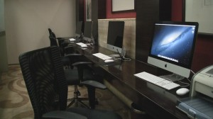 Workstations at Terminal 3 BGS Premier Lounge - Beijing