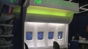 Mood lighting for airplane cabins display.