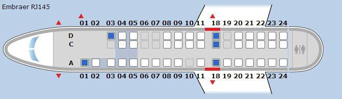 Video | United ERJ-145 Seats 3C - 3D (Bulkhead) - modhop.com
