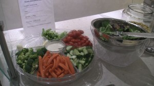 Healthy food options inside The Club