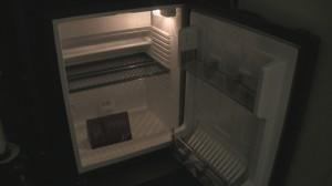 Room mini-fridge at Sheraton Amsterdam Airport Hotel