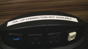 No dialup notice at Swissport Lounge - ORD