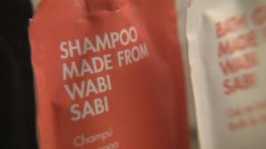 Wabi Sabi shampoo at Room Mate Aitana.