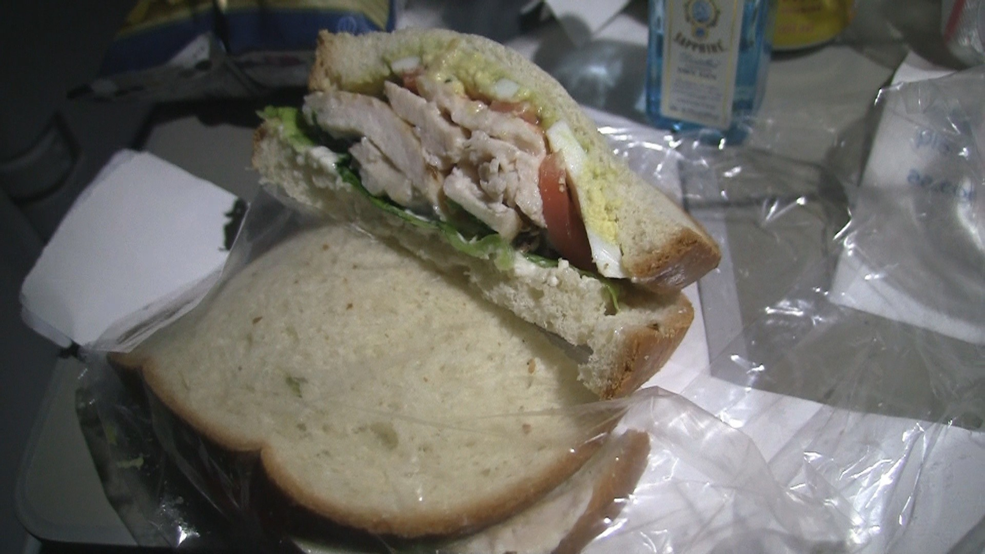 Cobb Sandwich on American Airlines.