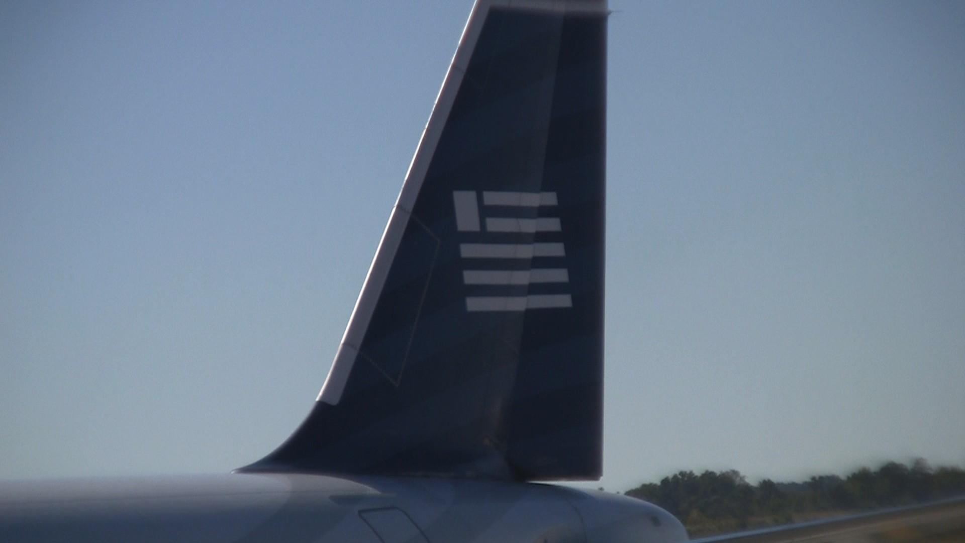 US Airways tail on AA A320