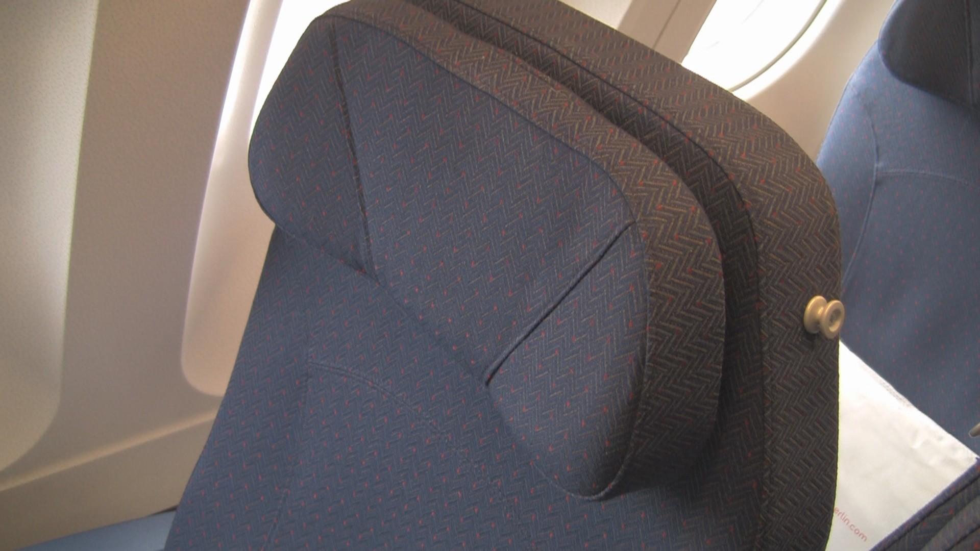 Cloth economy seat - airberlin