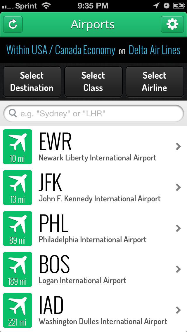 Airport list - LoungeBuddy App