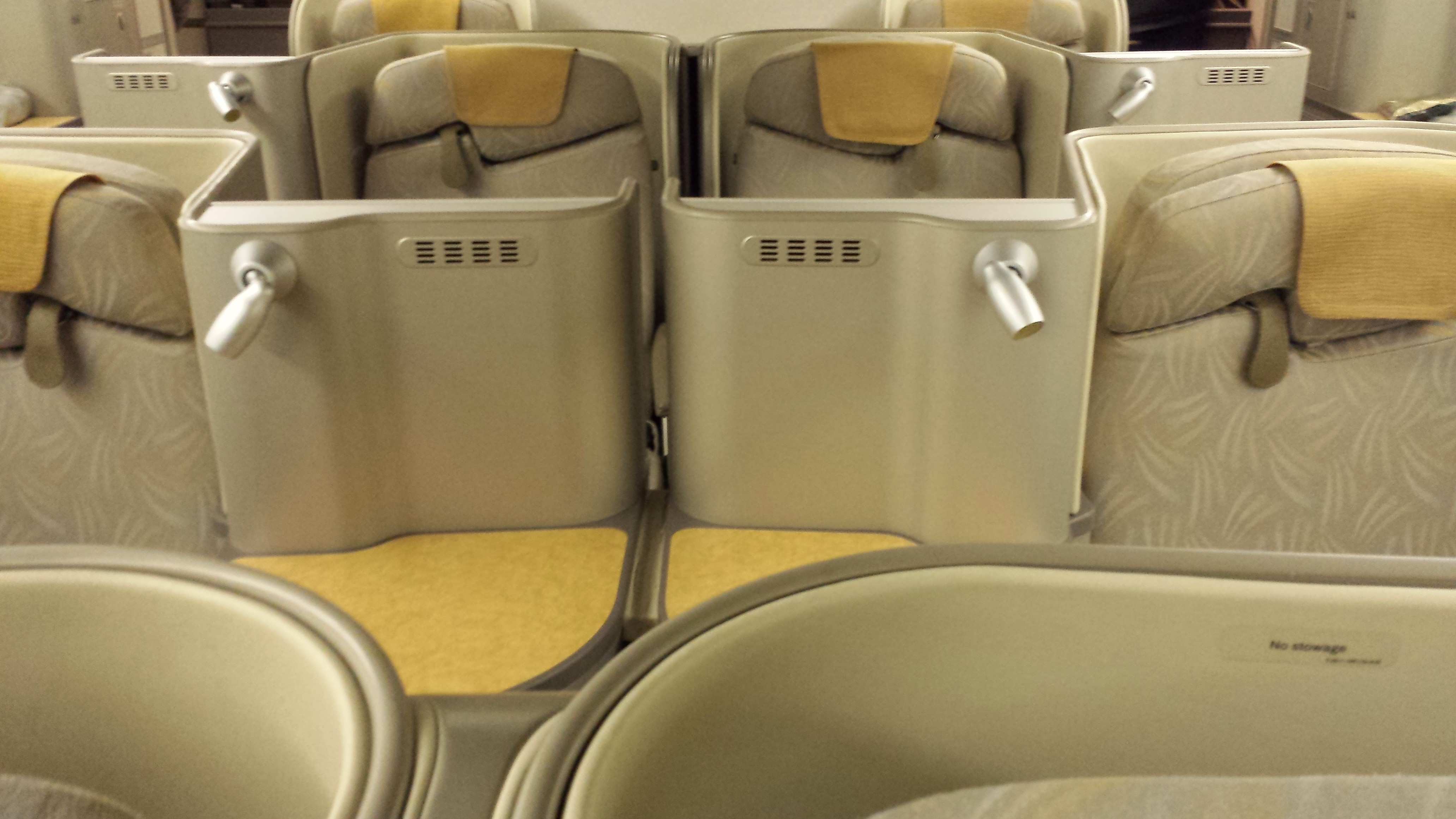 Staggered center seating.